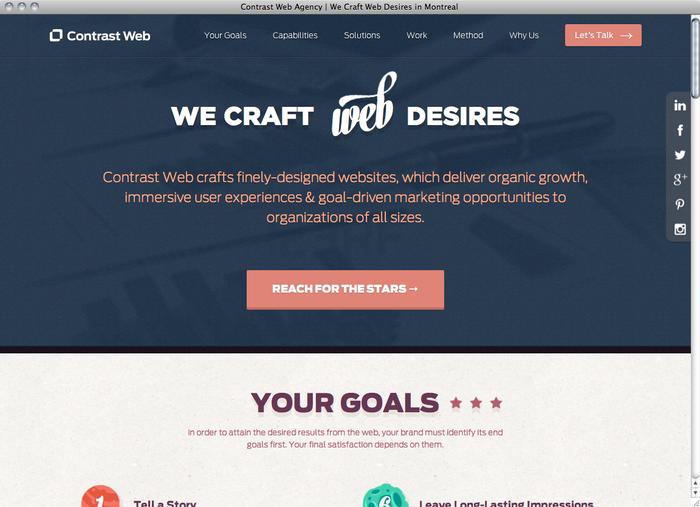 Contrast Web website 1