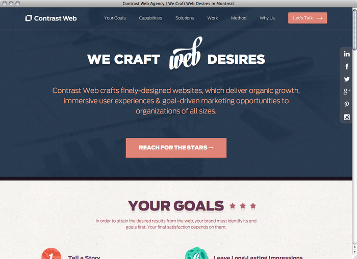 Contrast Web website 1