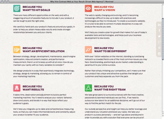 Contrast Web website 5