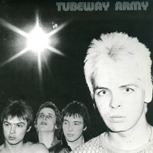 "Tubeway Army – ""Bombers"" single cover"