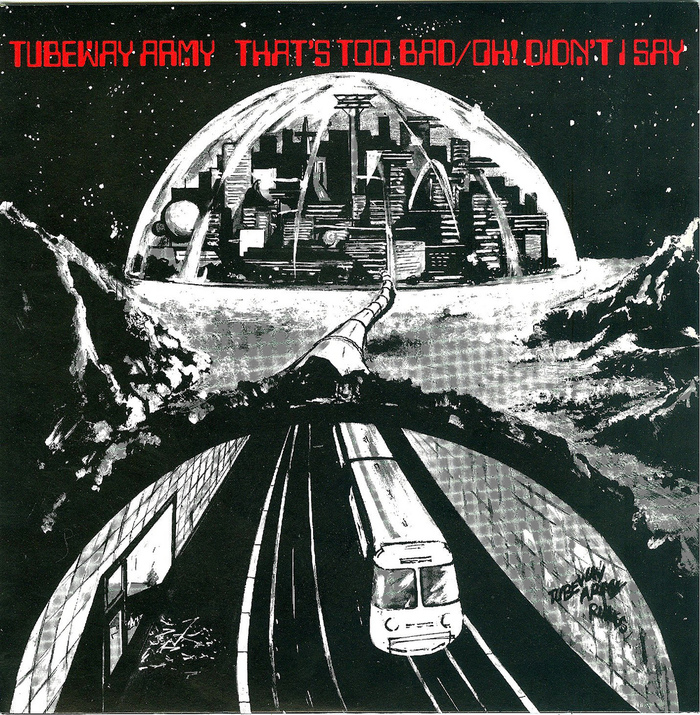 "Tubeway Army – ""That's Too Bad"" / ""Oh! Didn't I Say"" single cover 1"