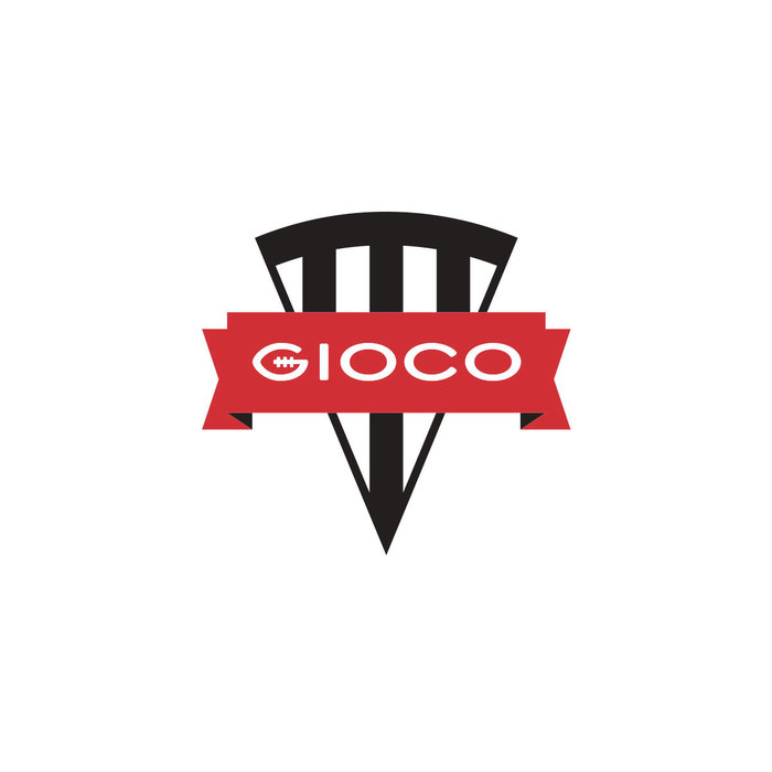 The Slice Logo is the primary logo used for Gioco. Trio Grotesk has been stretched lengthwise slightly to allow for the 'G' to take on the morphology of a football, but still maintain consistency across the rest of the lettering.