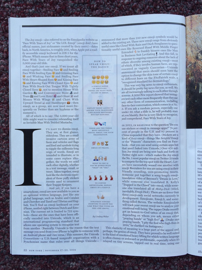 New York magazine, Nov 17–23 2014 4