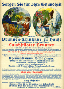 Ad for healing waters from Lauchstädter Brunnen