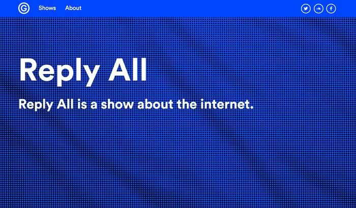Gimlet Media logo and website 2
