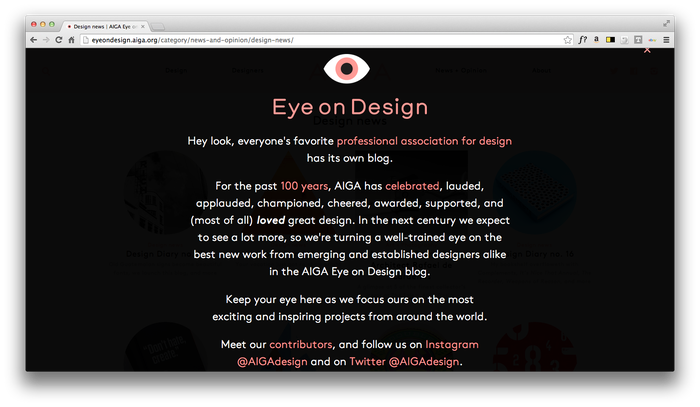 Eye On Design: AIGA Blog 1