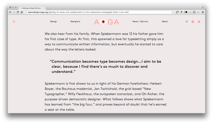 Eye On Design: AIGA Blog 3