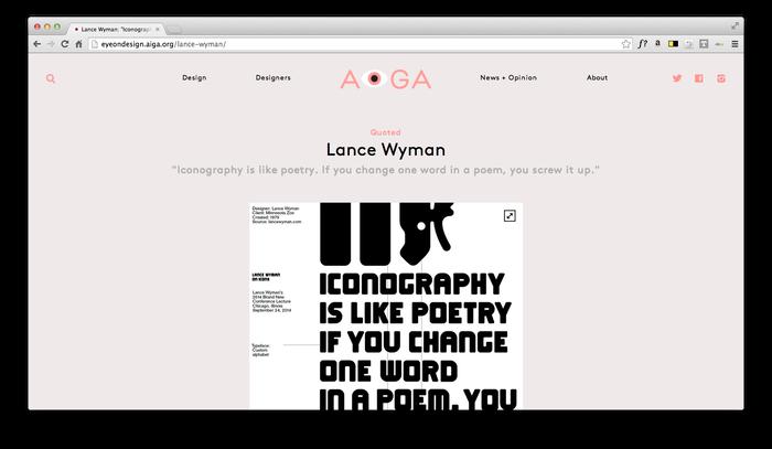Eye On Design: AIGA Blog 7