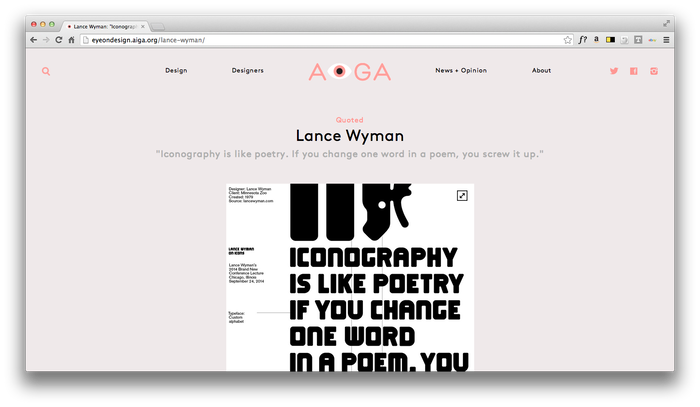 Eye On Design: AIGA Blog 7