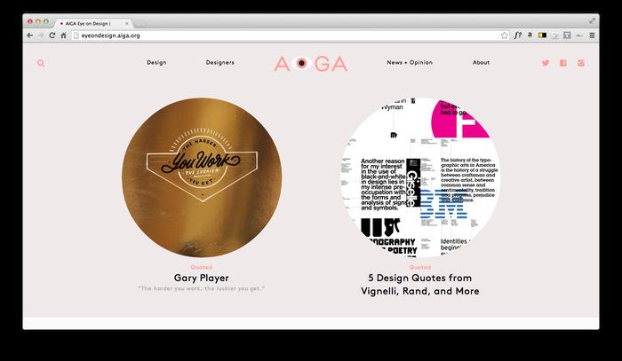 Eye On Design: AIGA Blog 8
