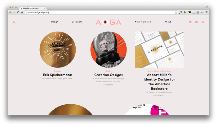 Eye On Design: AIGA Blog 9