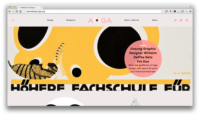 Eye On Design: AIGA Blog 10