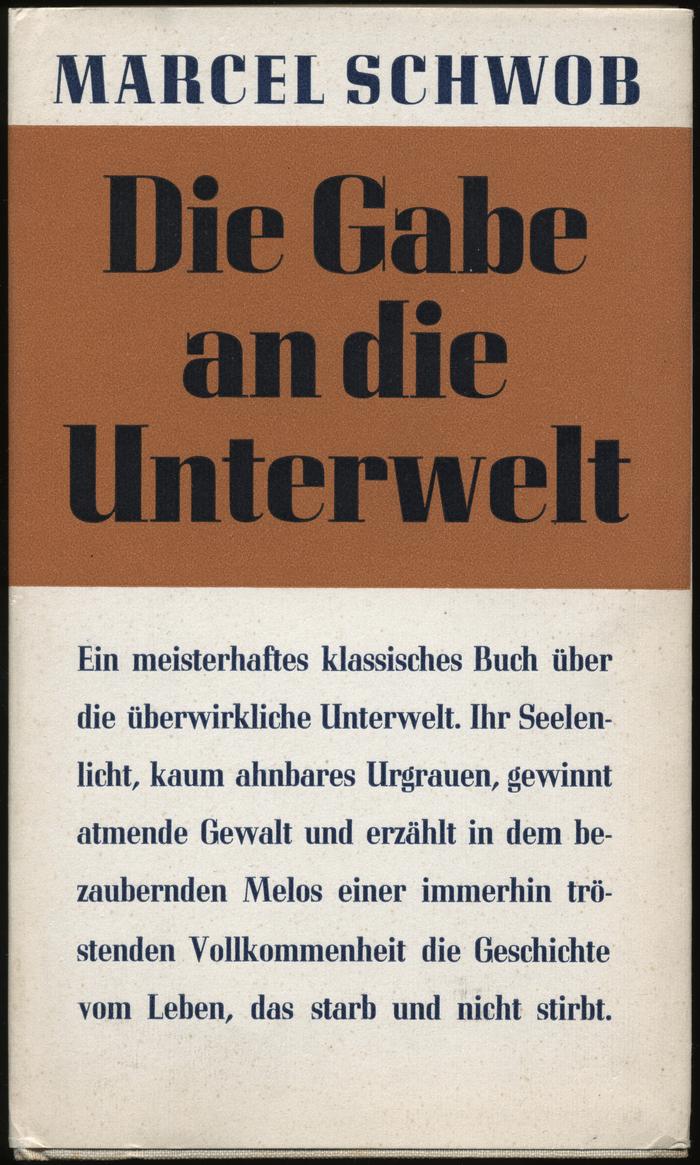 Die Gabe an die Unterwelt by Marcel Schwob
