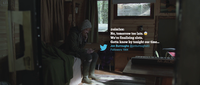 Twitter and blogging intertitles.