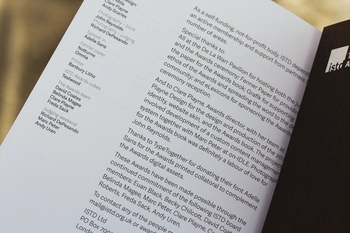 ISTD – 2014 International Typographic Awards catalogue 2