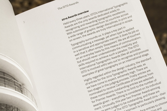 ISTD – 2014 International Typographic Awards catalogue 4