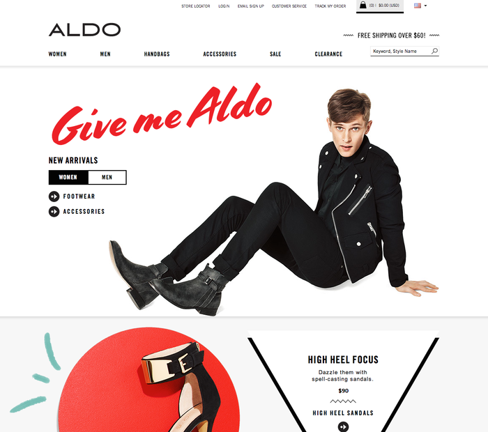 "The initial ""Give me Aldo"" campaign with hand lettering by Celia Carlstedt which the typeface Cortado is based on."