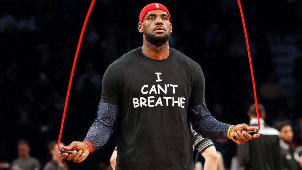 """6fa5a87979b I Can t Breathe"""" NBA player protest shirts - Fonts In Use"""