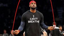 """I Can't Breathe"" NBA player protest shirts"