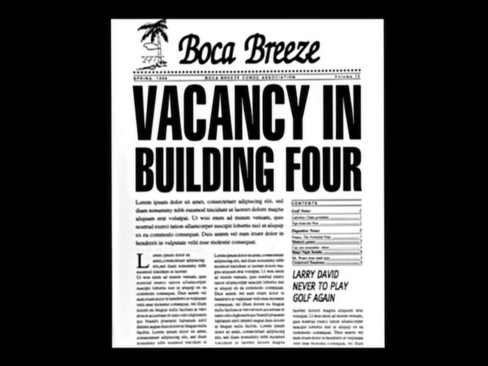 Boca Breeze newsletters in Seinfeld 3