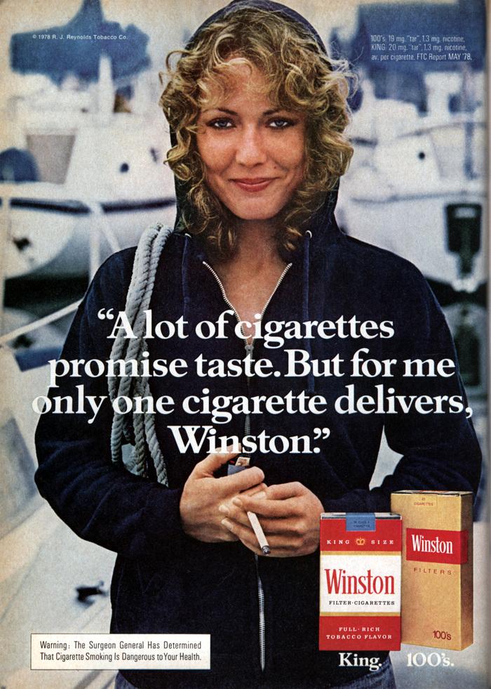 Winston Cigarettes ads (1970s) 1