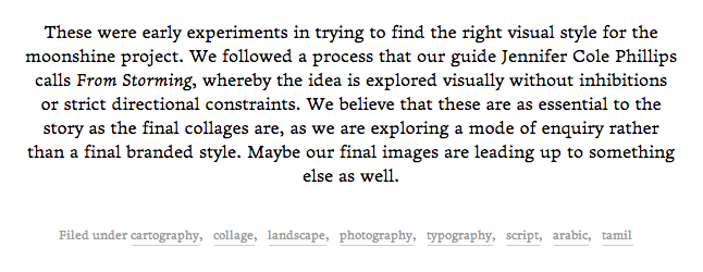 Detail of the web typography (actual size)