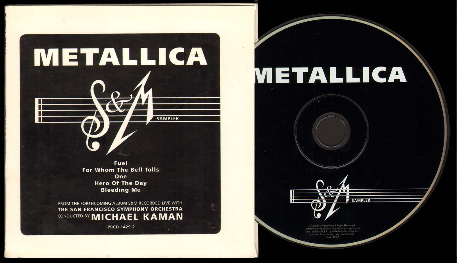 Symphony & Metallica - Fonts In Use