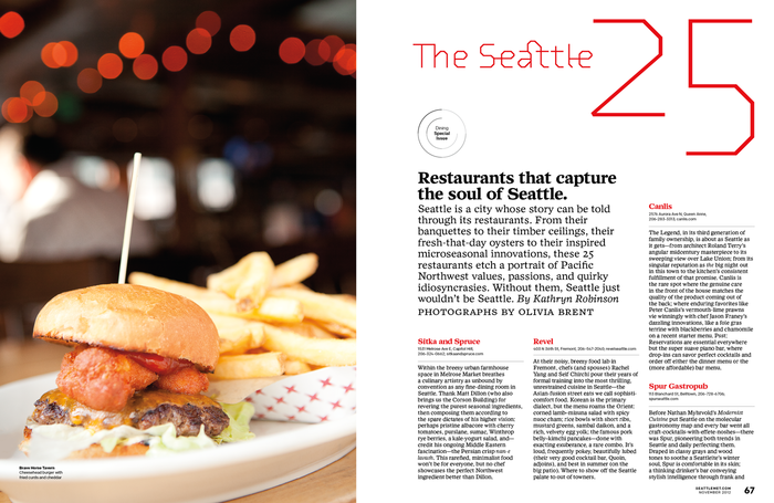 "Seattle Met ""The 2012 Best Restaurants"" 4"