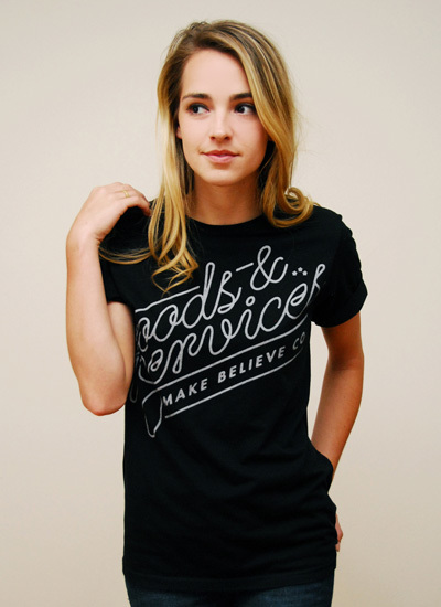 Make Believe clothing: Goods & Services t-shirt 2