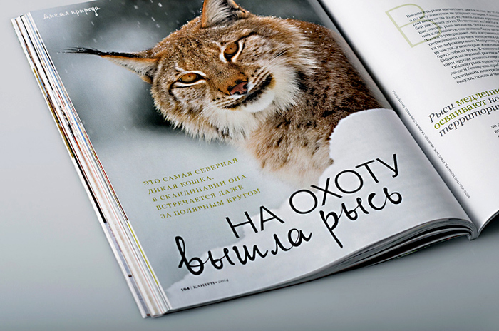 Layout of an opening-spread  Copyright: Кантри. Стиль и образ жизни Art-direction: Anastasia Grigoryeva