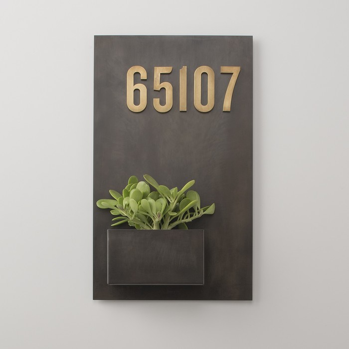 Schoolhouse Steel Planter and Magnetic House Numbers 1