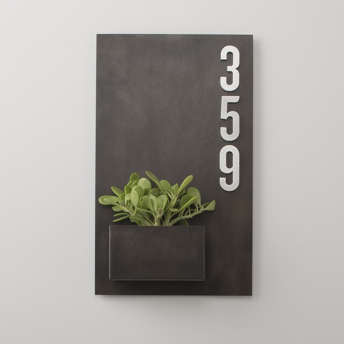 Schoolhouse Steel Planter and Magnetic House Numbers 2