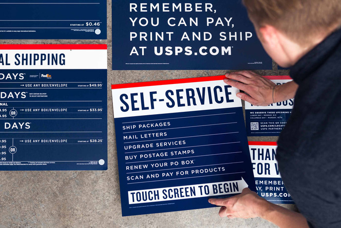 USPS signage & identity redesigns (2013) 3
