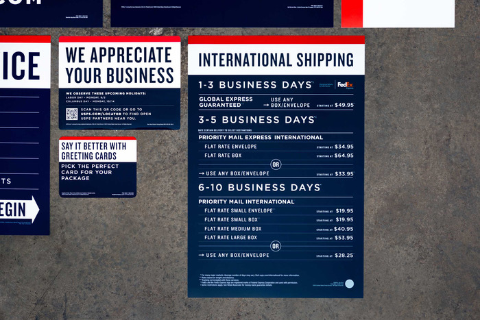 USPS signage & identity redesigns (2013) 8