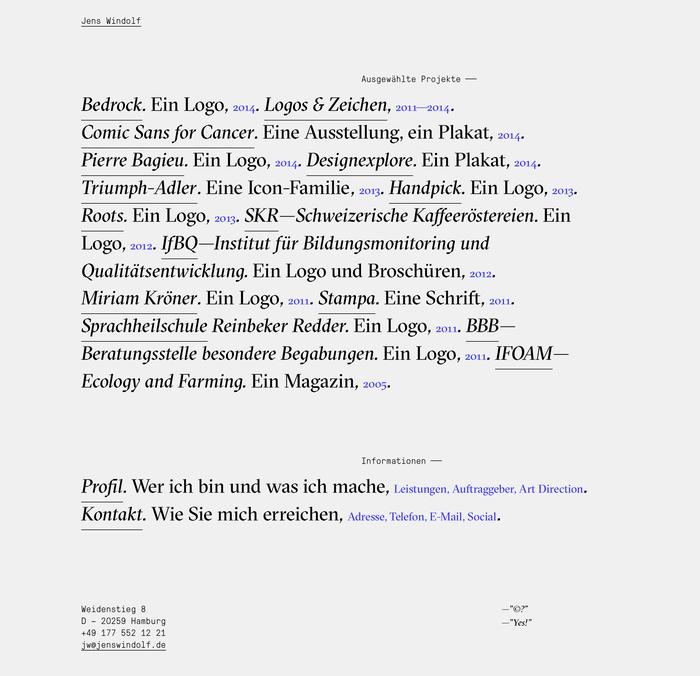 Jens Windolf – Grafikdesign und Art Direction 1