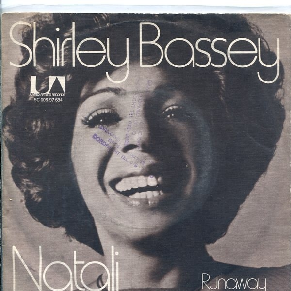 Natali / Runaway by Shirley Bassey (7″ single, Netherlands) 1
