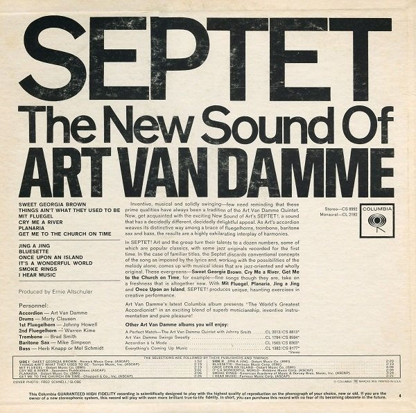 Septet: The New Sound of Art Van Damme 2