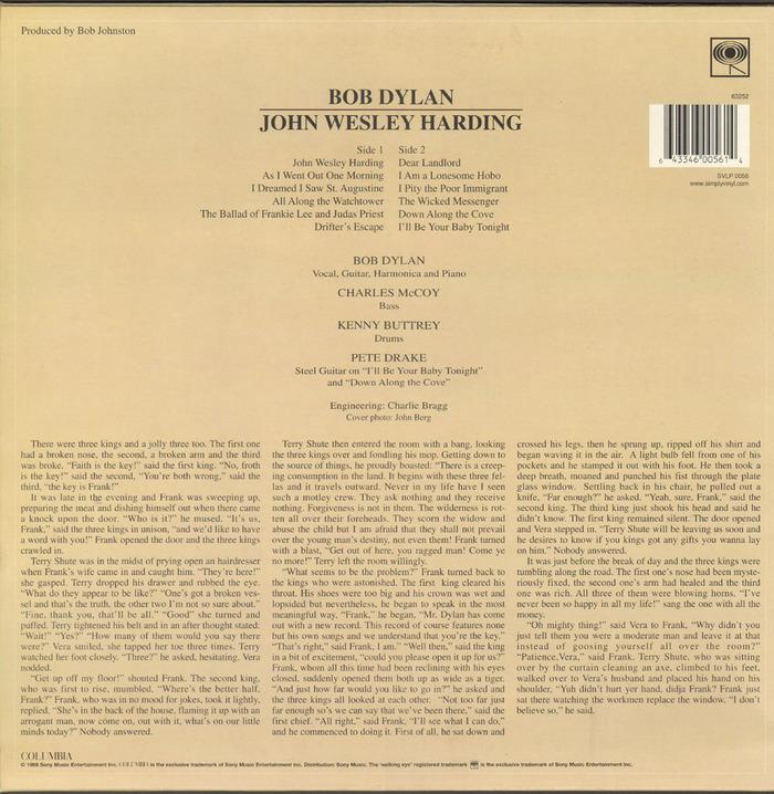 John Wesley Harding by Bob Dylan 2