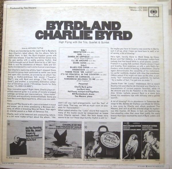 Charlie Byrd – Byrdland album art 2