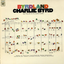 Charlie Byrd – <cite>Byrdland</cite> album art