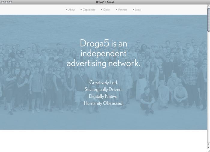 Droga5 website 2