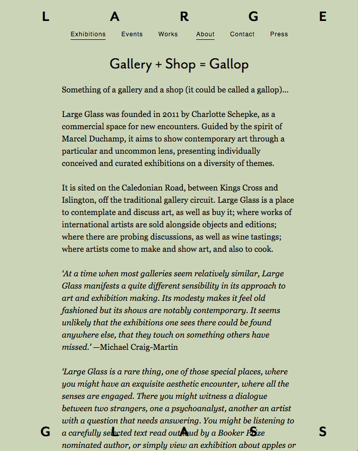 Large Glass Gallery website 5