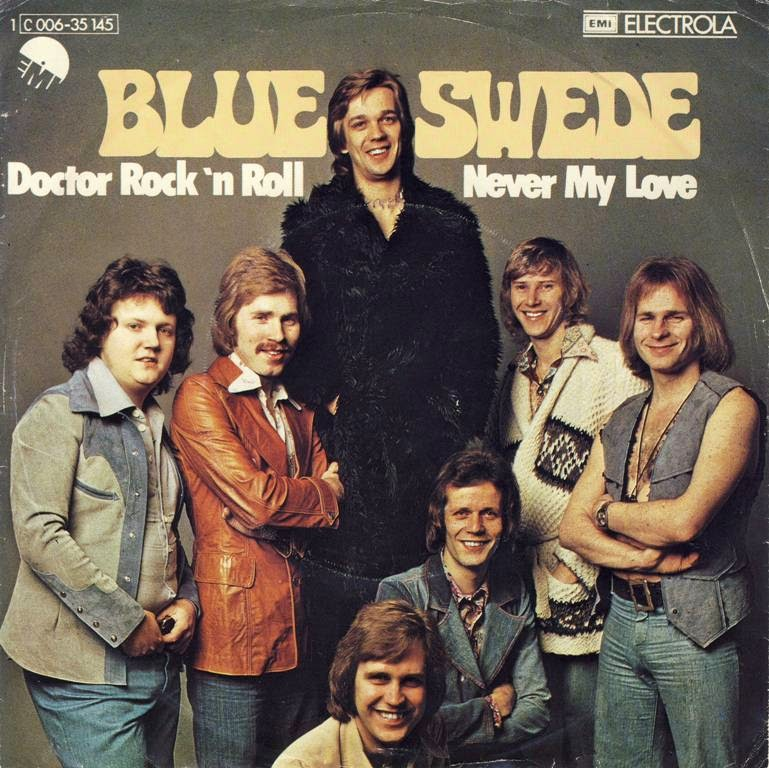 "Blue Swede — ""Doctor Rock 'n Roll"" / ""Never My Love"" - Fonts In Use"