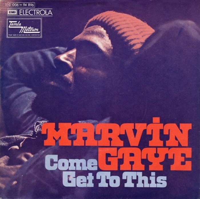 """Marvin Gaye – """"Come Get To This"""" German single cover"""
