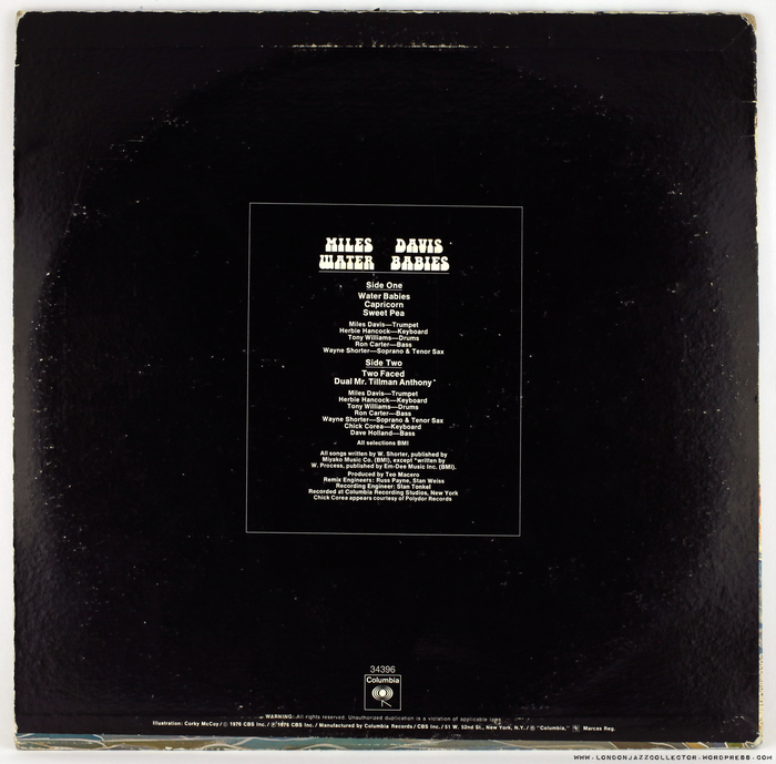 Miles Davis – Water Babies album art 2