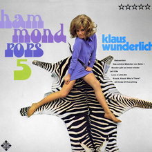 Klaus Wunderlich – <cite>Hammond Pops 5</cite> album art