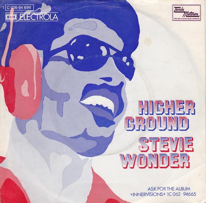 "Stevie Wonder – ""Higher Ground"" German single cover"