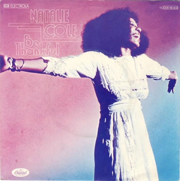 "Natalie Cole – ""Be Thankful"" single sleeve (Germany)"