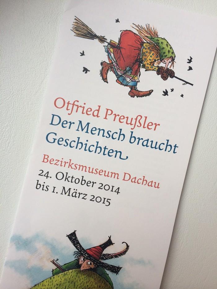 The illustrations are taken from two of Preußler's most famous works, Die kleine Hexe and Der Räuber Hotzenplotz, by Winnie Gebhard and F.J. Tripp, courtesy of Esslinger Thienemann Verlags GmbH.