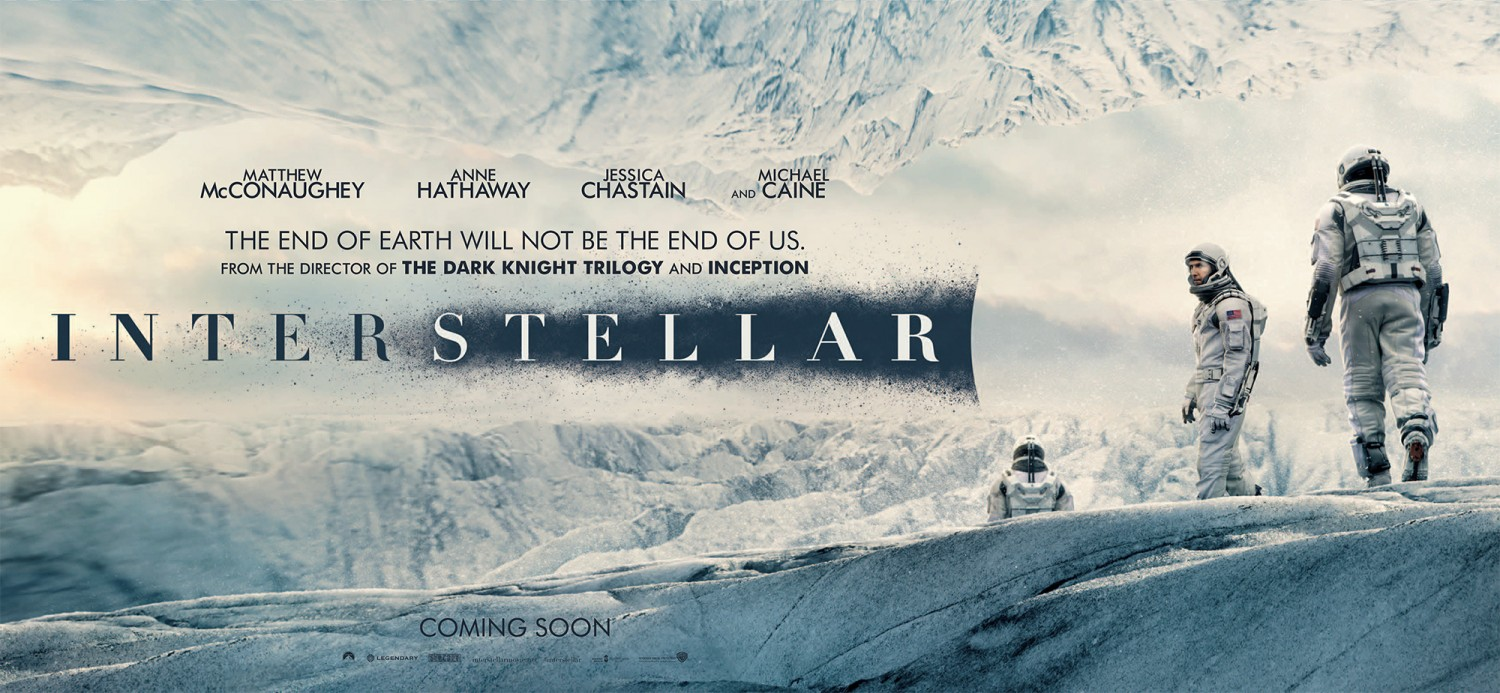 Interstellar Movie Posters And Main Title Fonts In Use